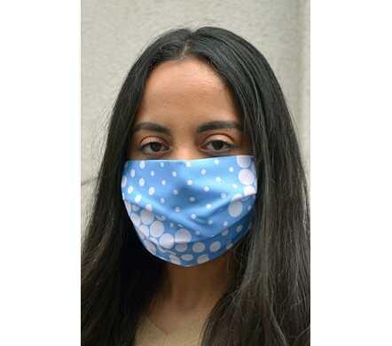 Mondmasker - blauw met dot print