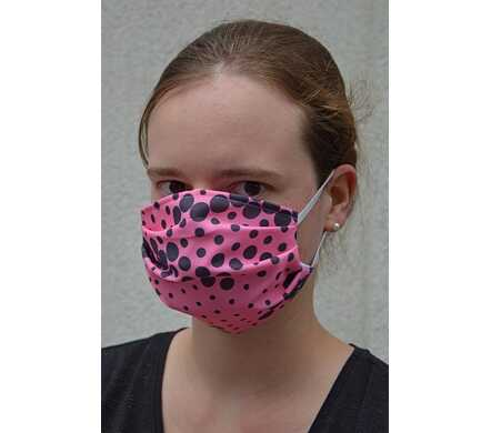 Mondmasker - roze met dot print
