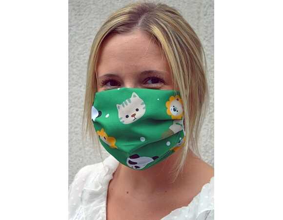 Mondmasker thema dieren