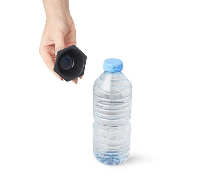 Flesopener antislip - zwart