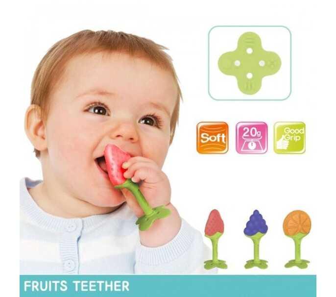 Bijtring in fruitvorm
