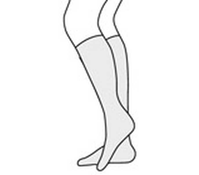 140 denier - kniekous - huidskleur - zonder tenen (-p)